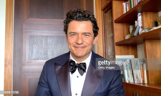 In this screengrab, Orlando Bloom speaks at the 26th Annual Critics Choice Awards on March 07, 2021.