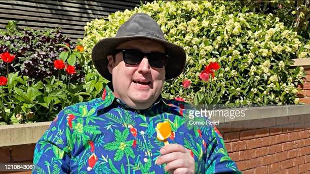 In this screengrab Peter Kay takes part in the BBC Children In Need and Comic Relief 'Big Night In at London on April 23 2020 in London EnglandThe...
