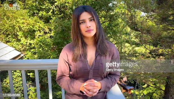 In this screengrab Priyanka Chopra Jonas speaks during One World Together At Home presented by Global Citizen on April 2020 The global broadcast and...