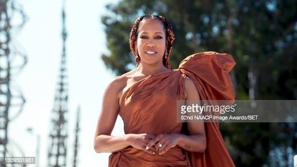 In this screengrab, Regina King presents the Outstanding Actor in a Motion Picture Award during the 52nd NAACP Image Awards on March 27, 2021.