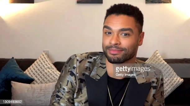 In this screengrab, Regé-Jean Page, winner of Outstanding Actor in a Drama Series category speaks at the 52nd NAACP Image Awards Virtual Press...