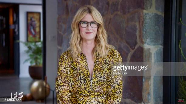 In this screengrab released on April 22, Laura Dern speaks during the 2021 Film Independent Spirit Awards broadcast on April 22, 2021.
