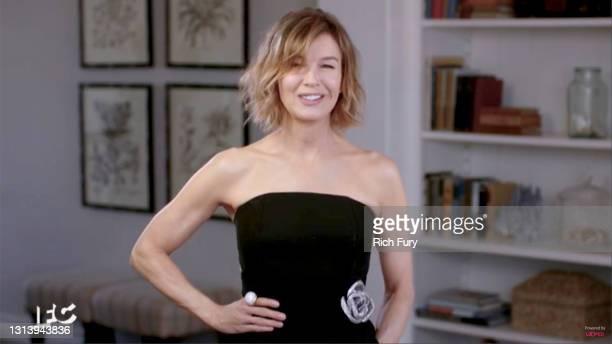In this screengrab released on April 22, Renée Zellweger speaks during the 2021 Film Independent Spirit Awards broadcast on April 22, 2021.