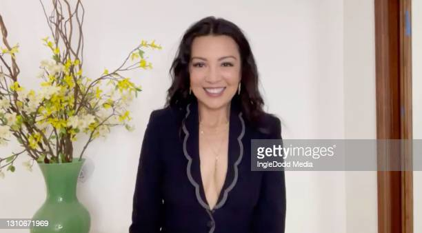 In this screengrab released on April 3, Ming-Na Wen presents the award for Television Series, Television Limited or Miniseries or Television New...
