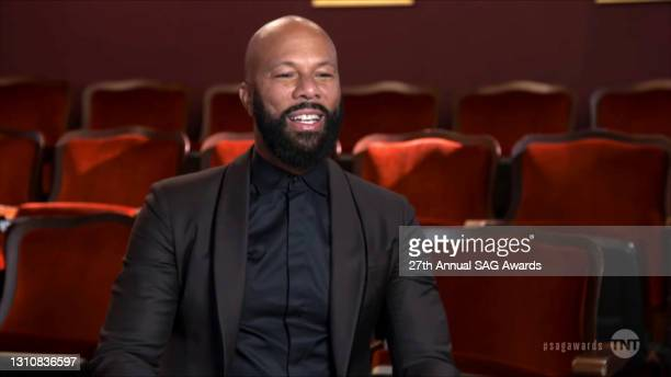 In this screengrab released on April 4 Common speaks during the 27th Annual Screen Actors Guild Awards on April 04, 2021.