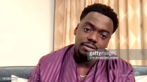 """In this screengrab released on April 4 Daniel Kaluuya, winner of Outstanding Performance by a Male Actor in a Supporting Role for """"Judas and the..."""