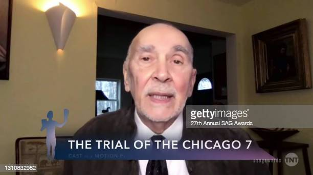 """In this screengrab released on April 4 Frank Langella, winner of Outstanding Performance by a Cast in a Motion Picture for """"The Trial of the Chicago..."""
