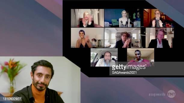 In this screengrab released on April 4 Ramy Youssef, Cate Blanchett, Anya Taylor-Joy, Mark Ruffalo, Kerry Washington, Ethan Hawke, Hugh Grant, Bill...