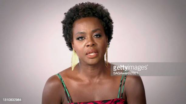 In this screengrab released on April 4 Viola Davis speaks during the In Memoriam for the 27th Annual Screen Actors Guild Awards on April 04, 2021.
