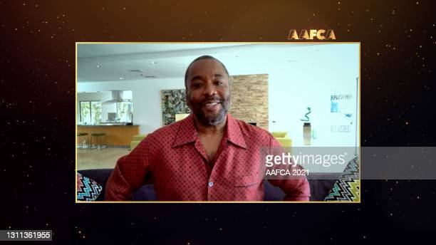 In this screengrab released on April 7, Lee Daniels speaks at the 2021 African American Film Critics Association's Awards Ceremony broadcast on April...