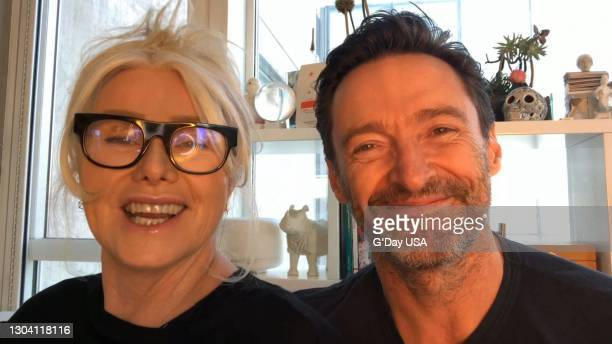 In this screengrab released on February 25, Deborra-Lee Furness and Hugh Jackman speak during the G'Day USA American Australian Association Arts Gala...