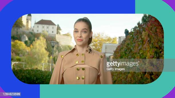In this screengrab released on November 08, Barbara Palvin presents at the MTV EMA's 2020 on October 25, 2020 in Budapest, Hungary. The 2020 MTV...