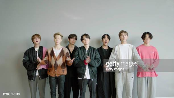 In this screengrab released on November 08, BTS accept the win for Best Virtual Live at the MTV EMA's 2020. The MTV EMA's aired on November 08, 2020.