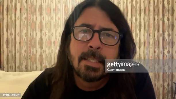 In this screengrab released on November 08, Dave Grohl introduces Yungblud at the MTV EMA's 2020. The MTV EMA's aired on November 08, 2020.