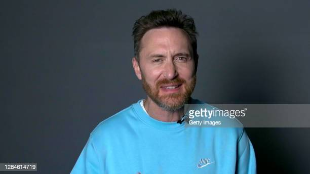 In this screengrab released on November 08, David Guetta accepts the win for Best Electronic at the MTV EMA's 2020. The MTV EMA's aired on November...