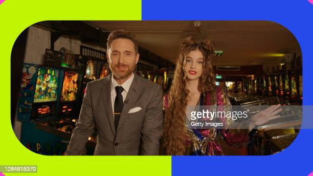 In this screengrab released on November 08, David Guetta and Barbara Palvin present Little Mix at the MTV EMA's 2020 on October 25, 2020 in Budapest,...
