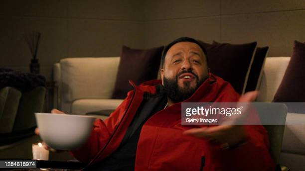 In this screengrab released on November 08, DJ Khaled introduces Karol G at the MTV EMA's 2020. The MTV EMA's aired on November 08, 2020.