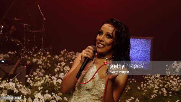 In this screengrab released on November 08, Doja Cat accepting the win for Best New at the MTV EMA's 2020 on November 01, 2020 in Los Angeles,...