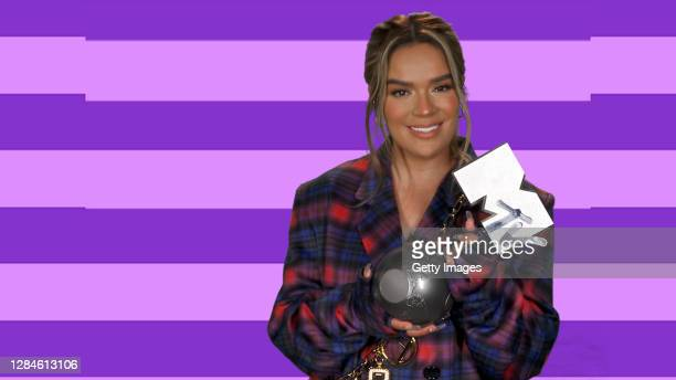 In this screengrab released on November 08, Karol G accepts the win for Best Latin at the MTV EMA's 2020. The MTV EMA's aired on November 08, 2020.