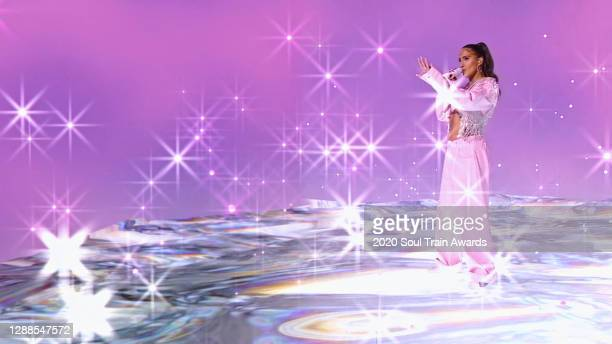 In this screengrab released on November 29th, Snoh Aalegra performs during the 2020 Soul Train Awards presented by BET.