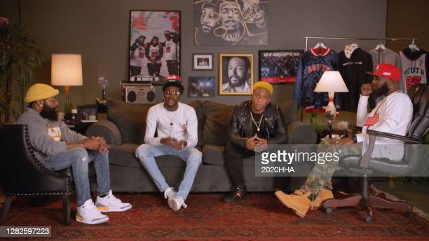 In this screengrab released on October 27, Chico Bean, DC Young Fly of 85 South, Yellopain, and Karlous Miller of 85 South speak at the BET Hip Hop...