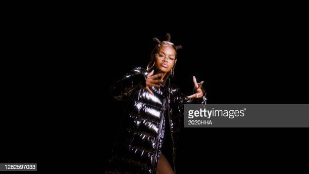 In this screengrab released on October 27, Teyana Taylor performs for the BET Hip Hop Awards 2020.