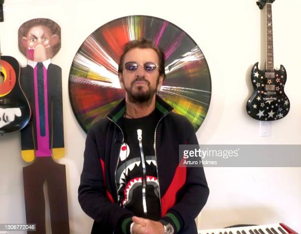 In this screengrab, Ringo Starr attends MusiCares: Music On A Mission Online Celebration and Fundraiser during the 63rd Annual GRAMMY Awards on March...