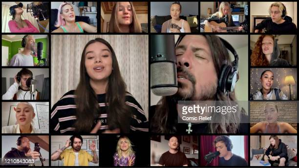 In this screengrab Rita Ora AnneMarie Sigrid Mabel Ellie Goulding Luke Hemmings Dan Smith Hailee Steinfeld Dave Grohl of Foo Fighters Jess Glynne Sam...