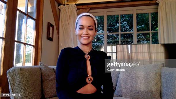 In this screengrab, Rita Ora speaks during SHEIN Together Virtual Festival to benefit the COVID – 19 Solidarity Response Fund for WHO powered by the...