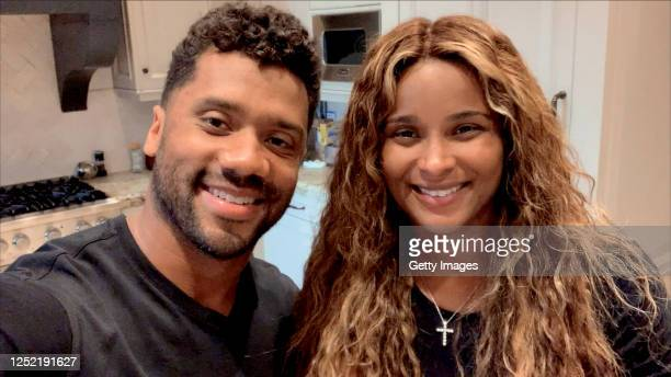 In this screengrab, Russell Wilson and Ciara speak during All In WA: A Concert For COVID-19 Relief on June 24, 2020 in Washington.
