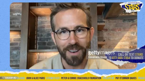 In this screengrab, Ryan Reynolds participates in A Night Of Covenant House Stars 2021 Virtual Charity Gala on May 18, 2021 online.