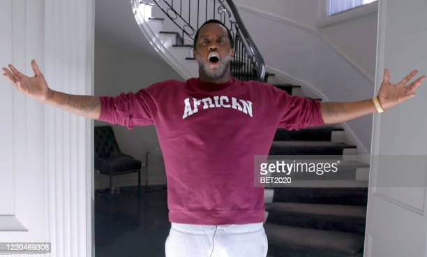 """In this screengrab Sean Diddy Combs speaks during Saving Our Selves A BET COVID19 Effort airing on April 22 2020 """"Saving Our Selves A BET COVID19..."""
