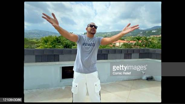 In this screengrab Sean Paul takes part in the BBC Children In Need and Comic Relief 'Big Night In at London on April 23 2020 in London EnglandThe...