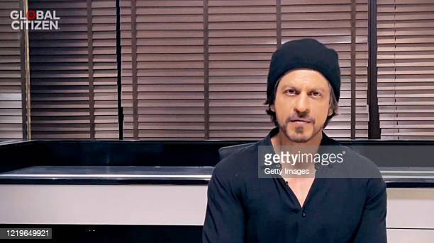 In this screengrab Shah Rukh Khan speaks during One World Together At Home presented by Global Citizen on April 2020 The global broadcast and digital...