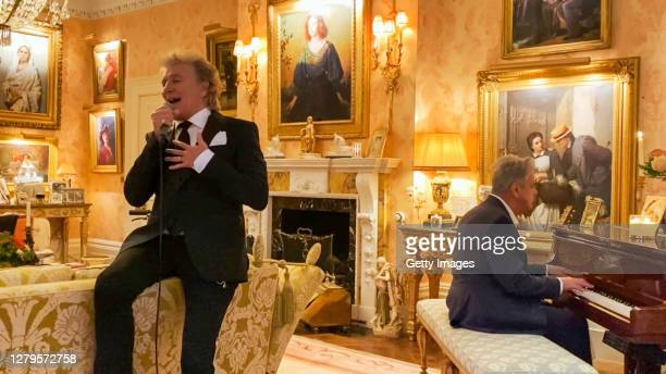 In this screengrab Sir Rod Stewart performs during the 2020 Carousel of Hope Ball benefiting the Children's Diabetes Foundation. On October 10, 2020...