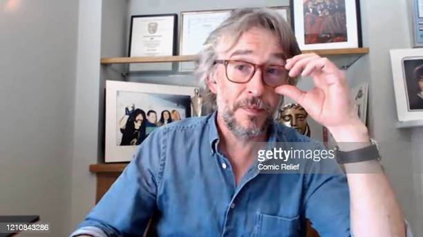 In this screengrab Steve Coogan takes part in the BBC Children In Need and Comic Relief 'Big Night In at London on April 23 2020 in London EnglandThe...