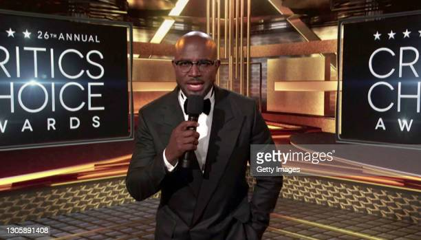 In this screengrab, Taye Diggs speaks at the 26th Annual Critics Choice Awards on March 07, 2021.