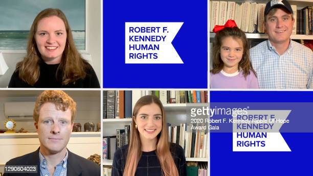 In this screengrab, the Kennedy family speaks at the 52nd annual Robert F. Kennedy Ripple of Hope Award gala, honoring courageous human rights...