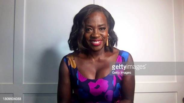 In this screengrab, Viola Davis, winner of Outstanding Actress in a Drama Series and Outstanding Actress in a Motion Picture categories speaks at the...
