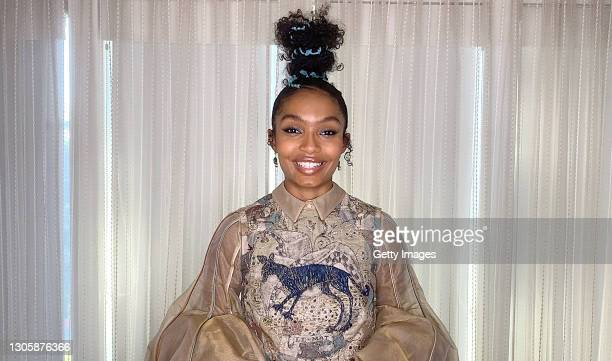 In this screengrab, Yara Shahidi speaks at the 26th Annual Critics Choice Awards on March 07, 2021.