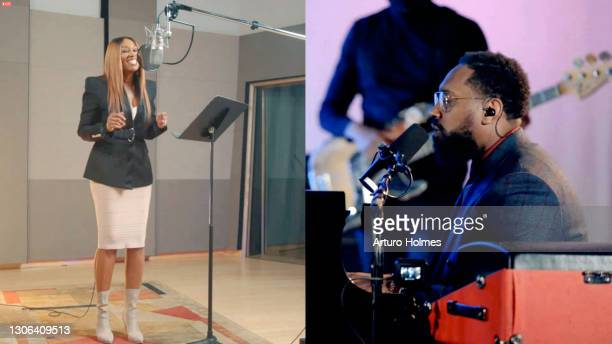 In this screengrab, Yolanda Adams and PJ Morton attend Black Music Collective GRAMMY Week Celebration during the 63rd Annual GRAMMY Awards on March...