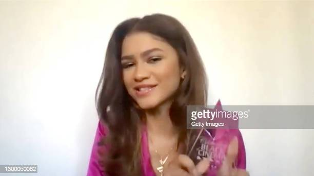 In this screengrab, Zendaya accepts the Next Gen Award at the Critics Choice Association's Third Annual Celebration of Black Cinema on February 02,...