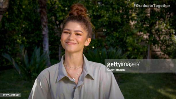 In this screengrab, Zendaya speaks during Graduate Together: America Honors the High School Class of 2020 on May 16, 2020.