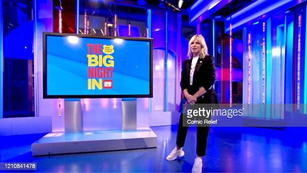 In this screengrab, Zoe Ball takes part in the BBC Children In Need and Comic Relief 'Big Night In at London on April 23, 2020 in London, England.The...