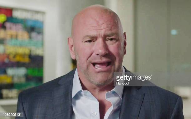In this screenshot from the RNC's livestream of the 2020 Republican National Convention, UFC President Dana White addresses the virtual convention on...