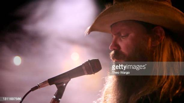 In this screenshot released on April 9, Chris Stapleton performs during A Grammy Salute To The Sounds of Change.