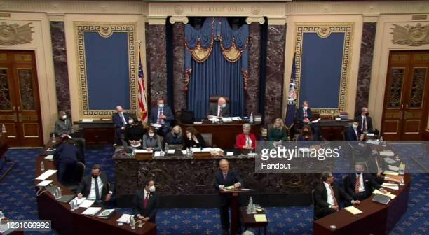 In this screenshot taken from a congress.gov webcast, David Schoen, defense lawyer for former President Donald Trump speaks on the first day of...