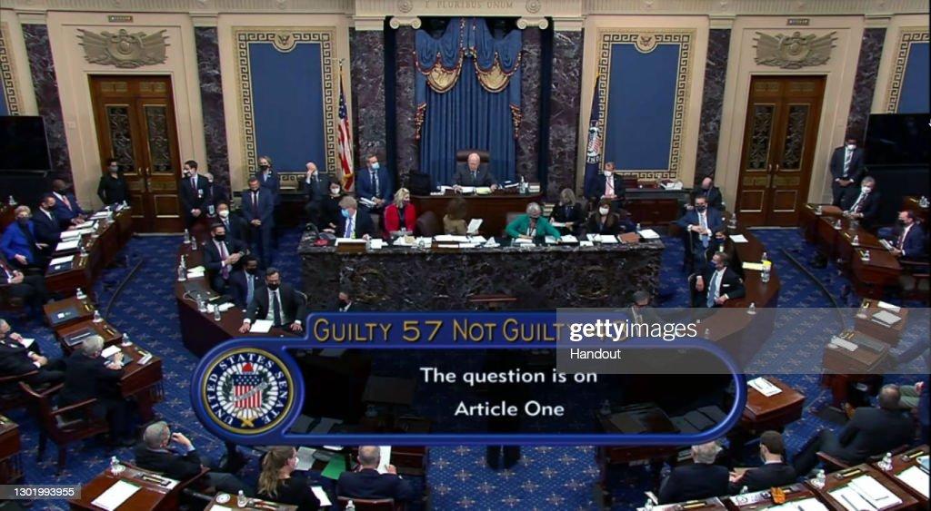 Second Impeachment Trial Of Donald J. Trump Continues In Senate : ニュース写真