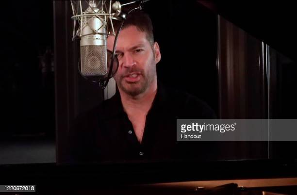 In this still image from video provided by the NFL, Harry Connick Jr. Appears during the first round of the 2020 NFL Draft on April 23, 2020.
