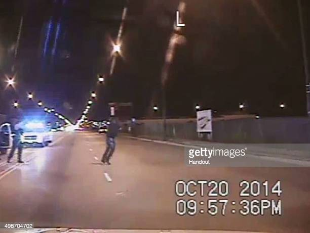 In this still image taken from a police vehicle dash camera released by the Chicago Police Department on November 24 Chicago Police officer Jason Van...